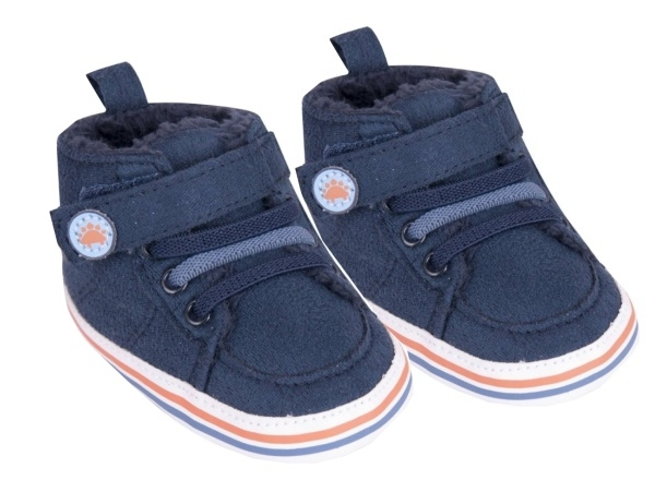 YO! Oteplené dojčenské topánky / capáčky, granátové