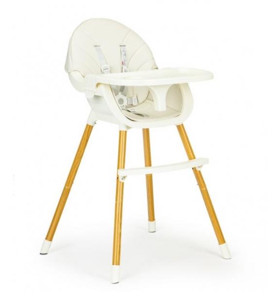 ECO TOYS Jedálenská stolička, stolček 2v1 Colby - béžový