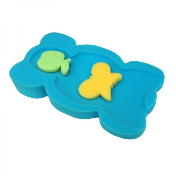 BADO Matračka - huba na kúpanie bábätiek MINI - modrá/zelená