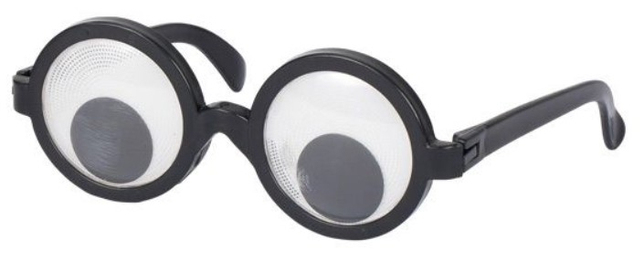 Goki Zábavné párty okuliare s pohyblivou šošovkou