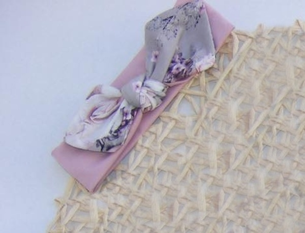G-Baby Čelenka s mašľou Kvety - staroružová-#Velikost koj. oblečení;0-1rok