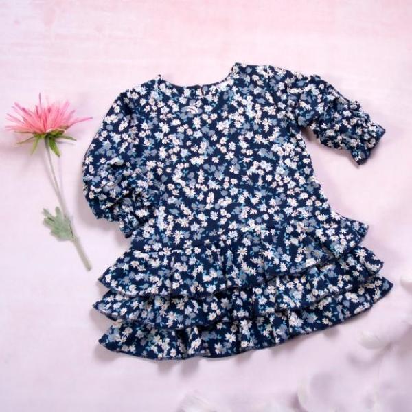K-Baby Detské šatôčky Kopretiny - granátové, veľ.98