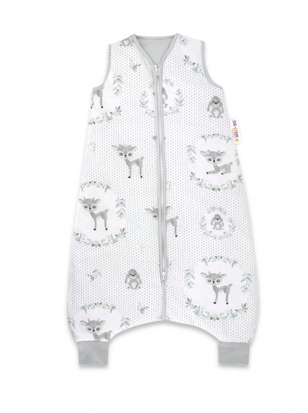Baby Nellys, Spací vak s nohavičkami Koloušek, 90 cm - šedá