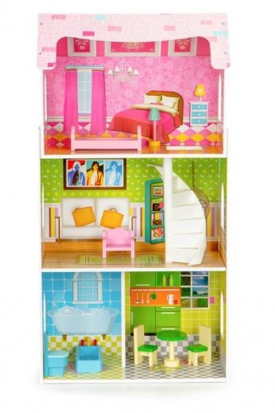 Drevený domček pre bábiky ECO TOYS - Rezidencia mätová