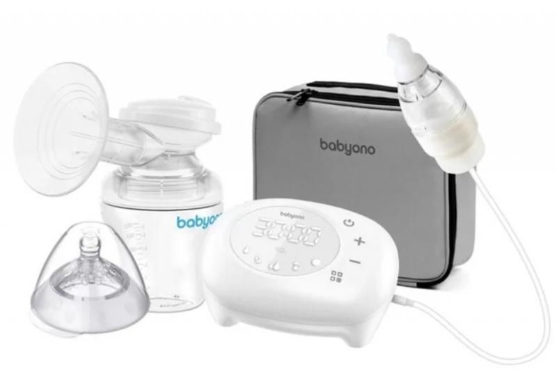 BabyOno Elektrická odsávačka Compact 5 režimov vrátane nosového Aspiratora