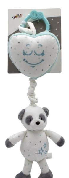 Tulilo Závesná plyšová hračka s melódiou Macko Panda - matová