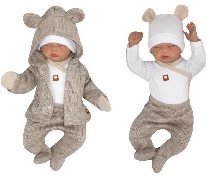 Z & Z 5-dielna kojenecká súpravička do pôrodnice - béžová, biela