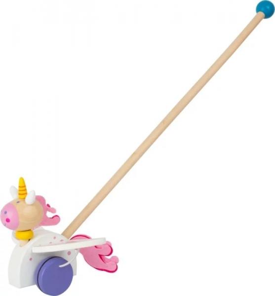 Small Foot Drevená jazdiace hračka na tyči - Jednorožec