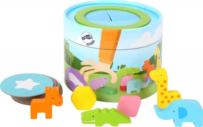 Small Foot Memo box so zvieratkami 32 dielikov, - Safari