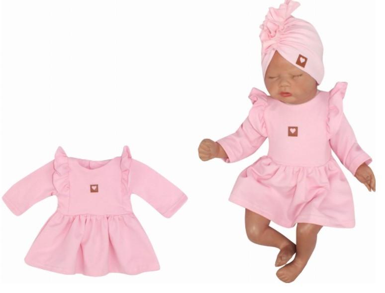 Z & Z Detské teplákové šatôčky/tunika Princess - ružové, veľ. 74