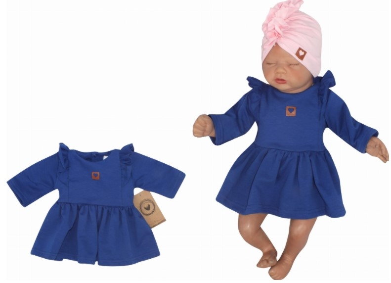 Z & Z Detské teplákové šatôčky/tunika Princess - tm. modré, veľ. 74