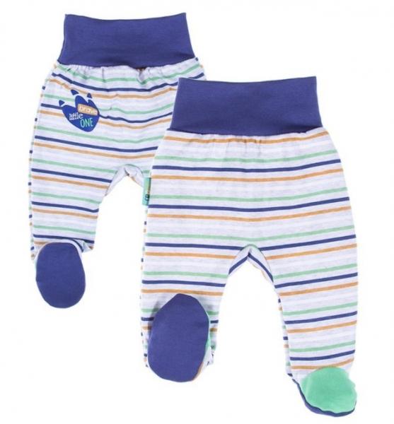 EEVI Dojčenské polodupačky - Africa, prúžok modré-#Velikost koj. oblečení;50 (0-1m)