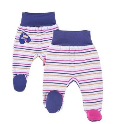 EEVI Dojčenské polodupačky - Africa, prúžok ružové-#Velikost koj. oblečení;50 (0-1m)
