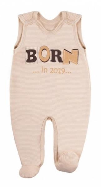 EEVI Dojčenské dupačky - Happy Baby, béžove-#Velikost koj. oblečení;50 (0-1m)