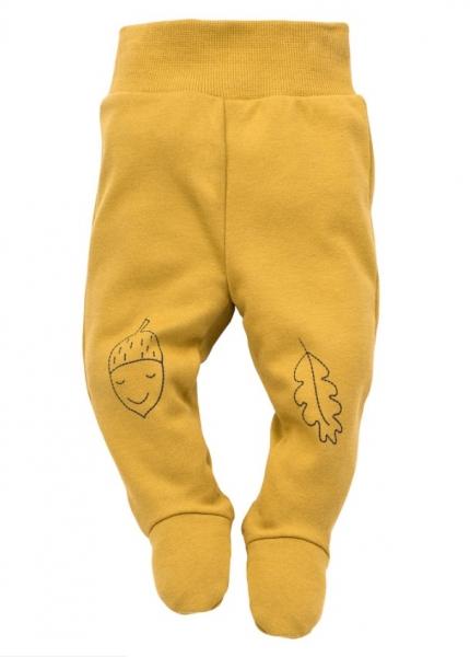 Pinokio Dojčenské polodupačky Forest - horčicové-#Velikost koj. oblečení;56 (1-2m)