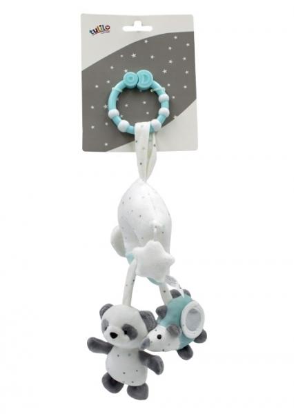 Tulilo Závesná plyšová hračka s rolničkou Macko Panda - matový