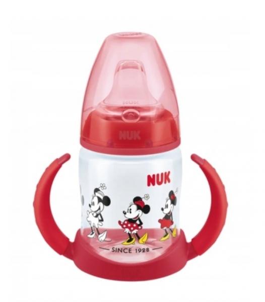 NUK Hrnček First Choice s úchytmi Minnie - červená, 6 - 18 m