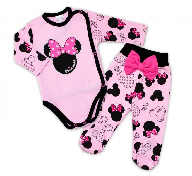 G-baby 2-dielna dojčenská sada Minnie - ružová, veľ. 68-#Velikost koj. oblečení;68 (4-6m)