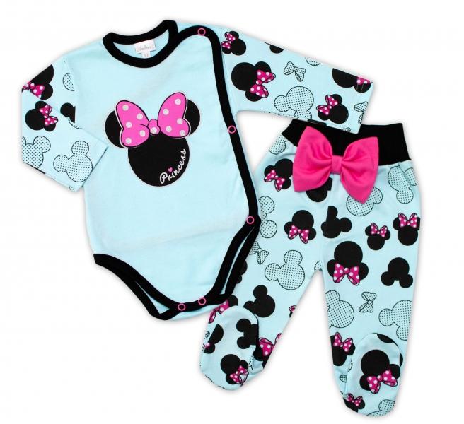 G-baby 2-dielna dojčenská sada Minnie - mätová-#Velikost koj. oblečení;56 (1-2m)
