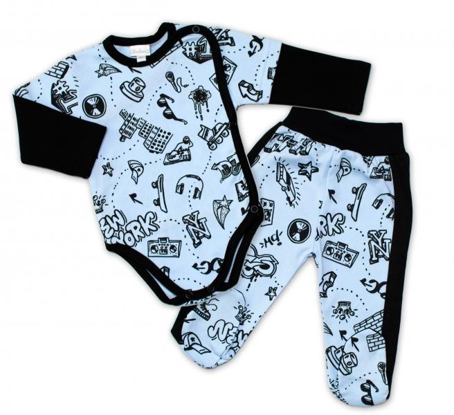 G-baby 2-dielna dojčenská sada ABC -svetlo modrá-#Velikost koj. oblečení;56 (1-2m)
