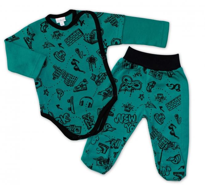 G-baby 2-dielna dojčenská sada ABC - zelená-#Velikost koj. oblečení;56 (1-2m)