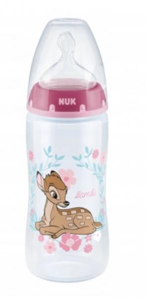 NUK Fľaštička First Choice Bambi - ružová