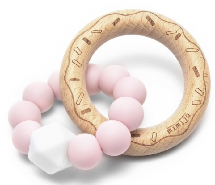 Mimijo Silikónové hryzátko Donut - ružové