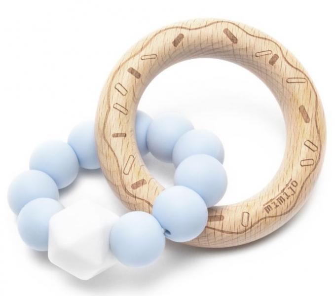 Mimijo Silikónové hryzátko Donut - modré