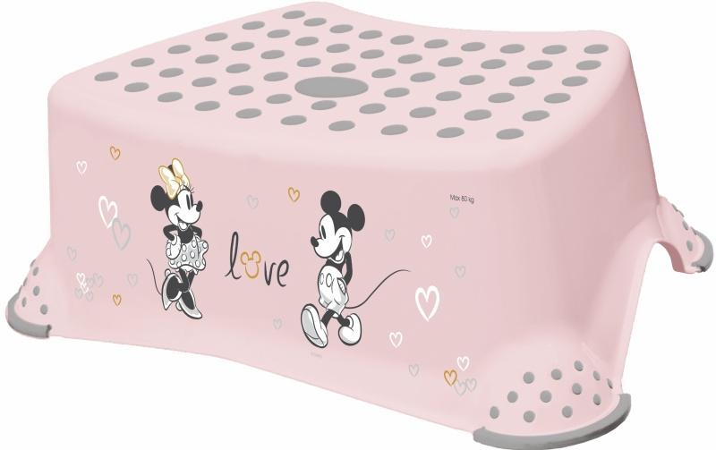 Keeeper Stolička, schodík s protišmykovou funkciou - Minnie Mouse, ružový