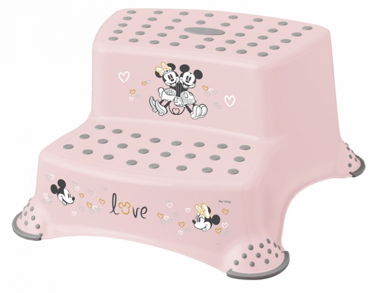Keeeper Stolička - schůdky s protišmykovou funkciou - Minnie Mouse, ružová