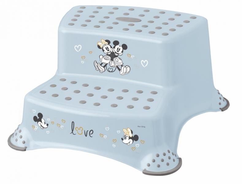 Keeeper Stolička - schůdky s protišmykovou funkciou - Mickey Mouse, modrá