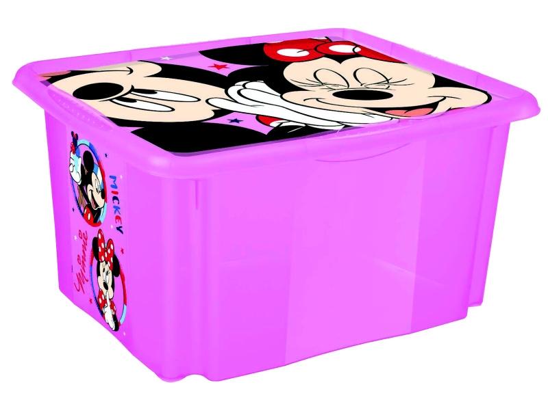 Keeeper Box na hračky Minnie Mouse 24 l - ružový