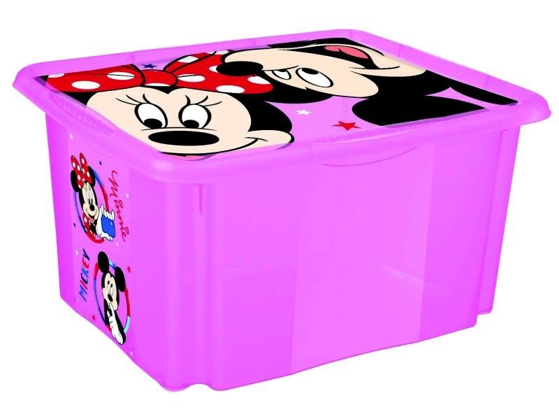 Keeeper Box na hračky Minnie Mouse 45 l, ružový