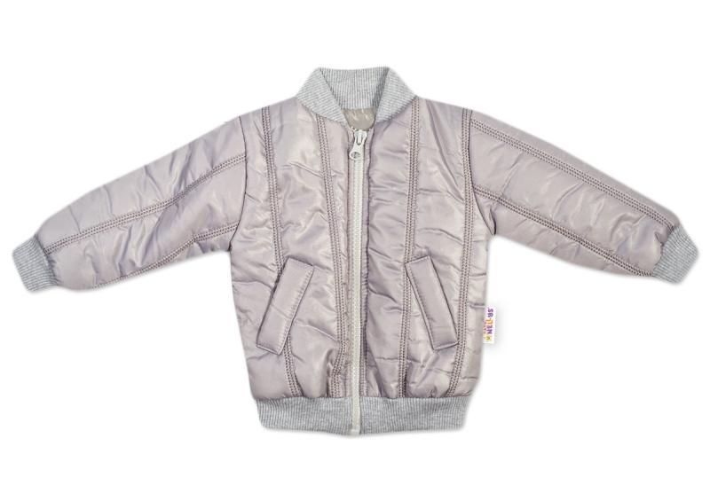 Baby Nellys Detská prešívaná prechodová bunda, sivá, veľ. 98