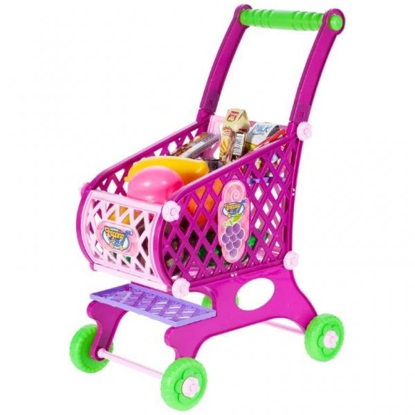 Tulimi Nákupný vozík s potravinami - ružový