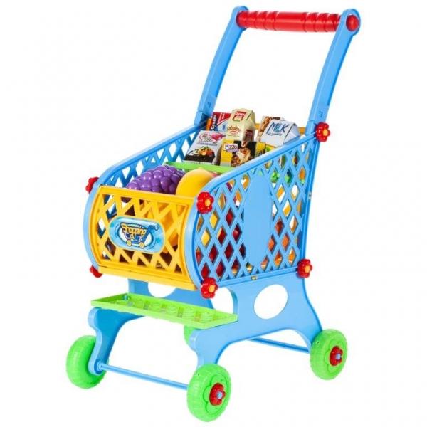 Tulimi Nákupný vozík s potravinami - modrý