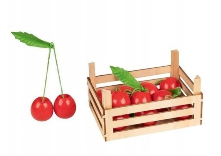 Goki Drevený košík s čerešňami