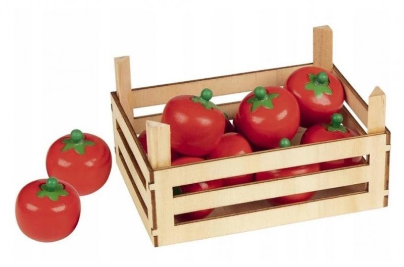 Goki Drevený košík s paradajkami