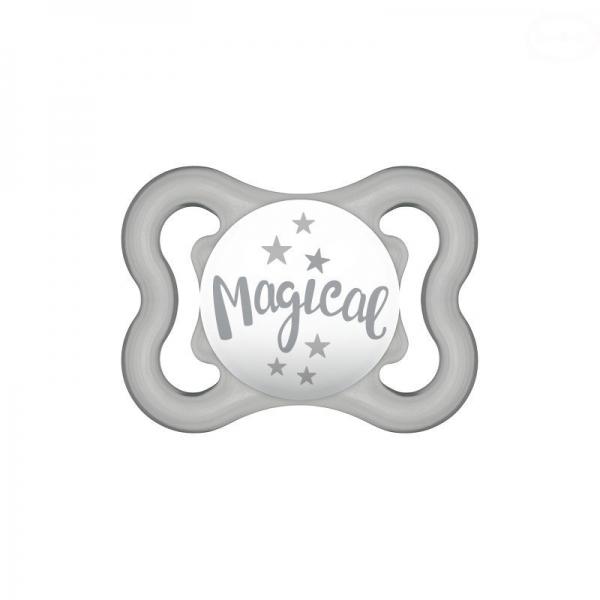 Symetrický cumlík Mam Air 2 - 6 m - Magical, šedý