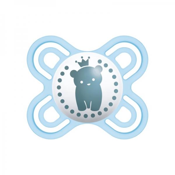 Mam Symetrický cumlík Perfect štart 0 - 2 m - Macko, modrý