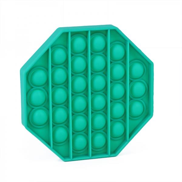 Pop It - Praskající bubliny silikon antistresová spol. hra, osemhran, zelená