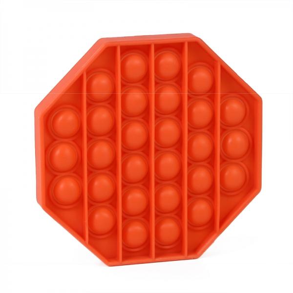 Pop It - Praskající bubliny silikon antistresová spol. hra, osemhran, oranžová
