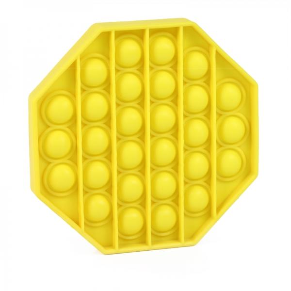Pop It - Praskající bubliny silikon antistresová spol. hra, osemhran, žltá