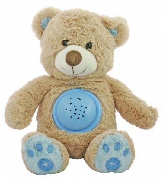 Plyšový medvedík s projektorom Baby Mix - modrý