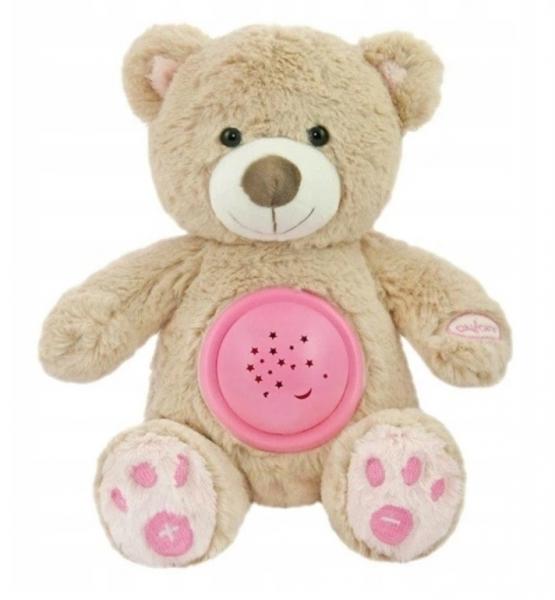 Plyšový medvedík s projektorom Baby Mix - ružový