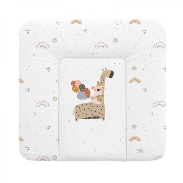 Ceba Baby prebaľovacia podložka Giraffe - tvrdá, 50 x 80 cm