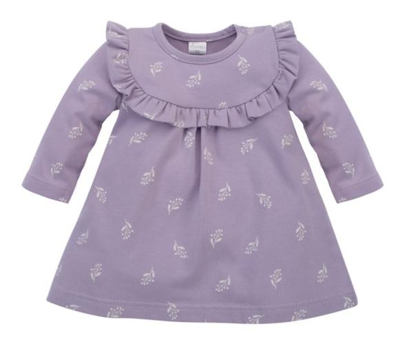 Pinokio Body dlhý rukáv  My Garden - lila-#Velikost koj. oblečení;62 (2-3m)