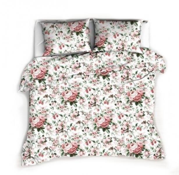Baby Nellys Bavlněné obliečky 140 x 200, 80 x 90 cm - Ruže, biela