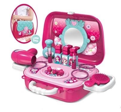 Tulimi Detský toaletný kufrík Fashion Girl - ružový