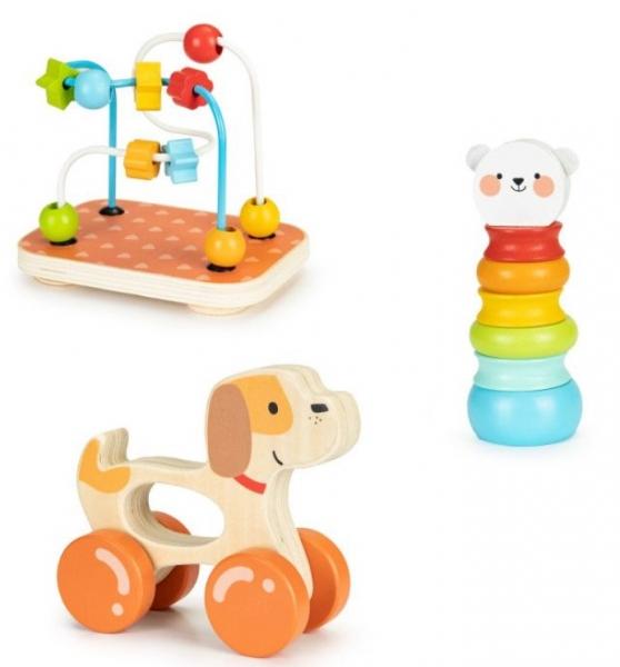 ECO TOYS Sada drevených vzdelávacích hračiek 3v1